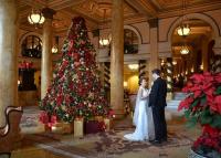 Esküvői dekoráció karácsonyi, szilveszteri esküvőn